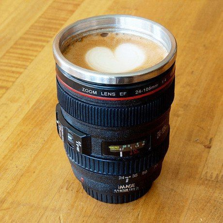 Canon lens coffee mug gift ideas for photographers