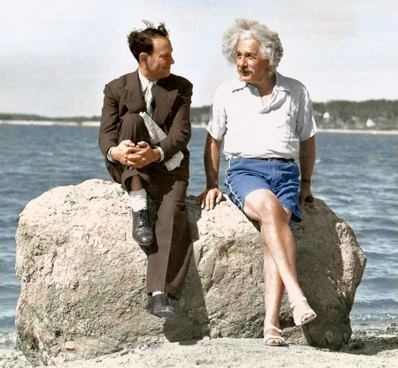 Colorized Albert Einstein 1939 photo