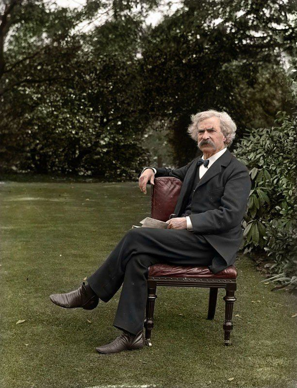 Colorized Mark Twain photo