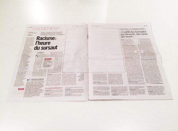French newspaper Liberation without images