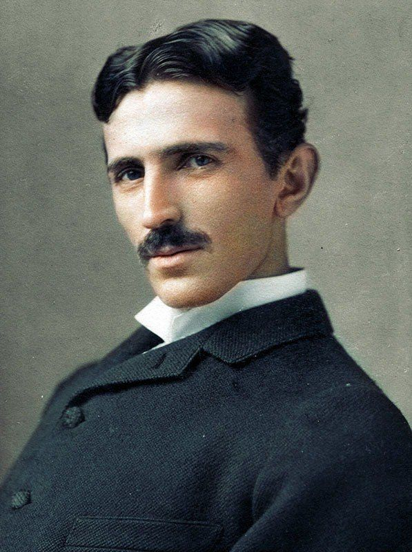 Nikola Tesla color photo