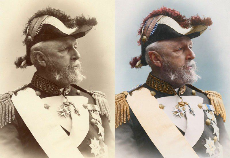 Oscar II King of Sweden and Norway 1880
