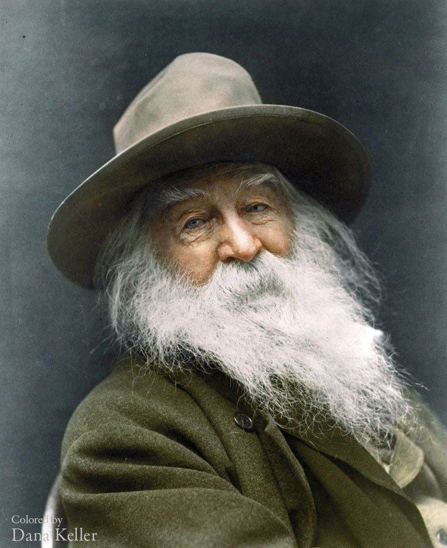 Walt Whitman 1887 color photo