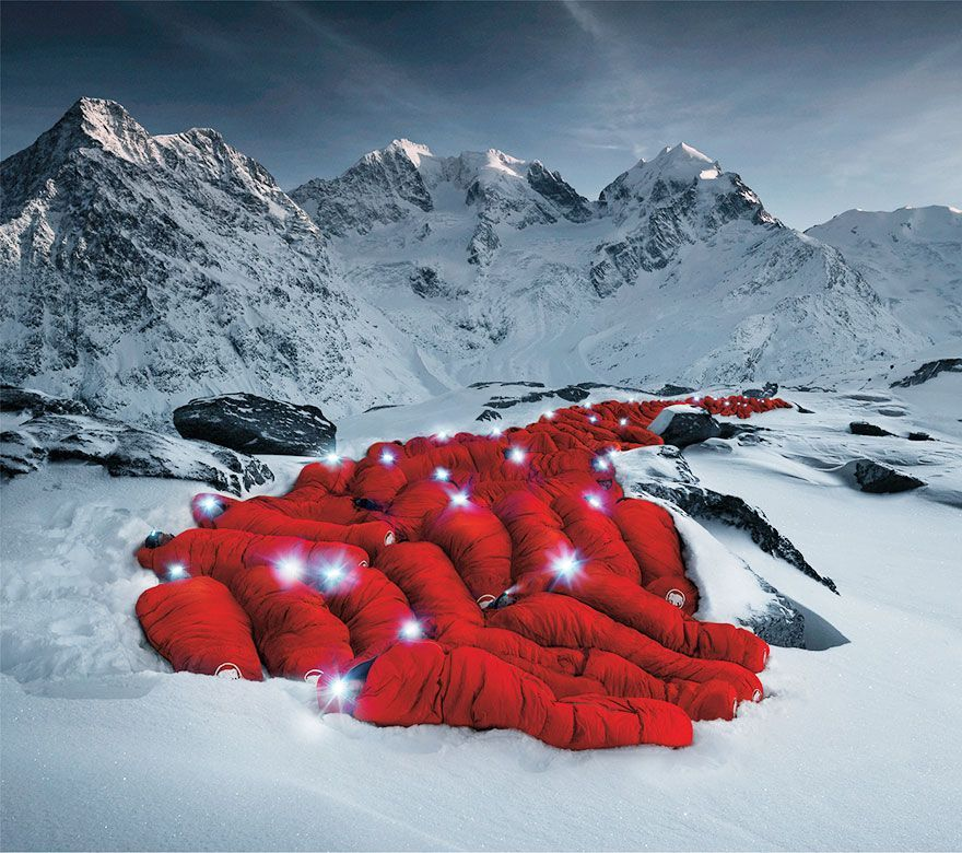 Alps red sleeping bags