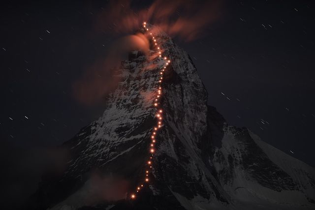 Mammut Matterhorn night shot