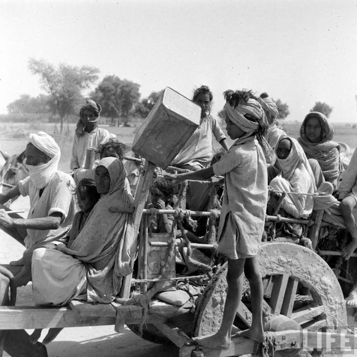 Bullock cart - partition of India 1947