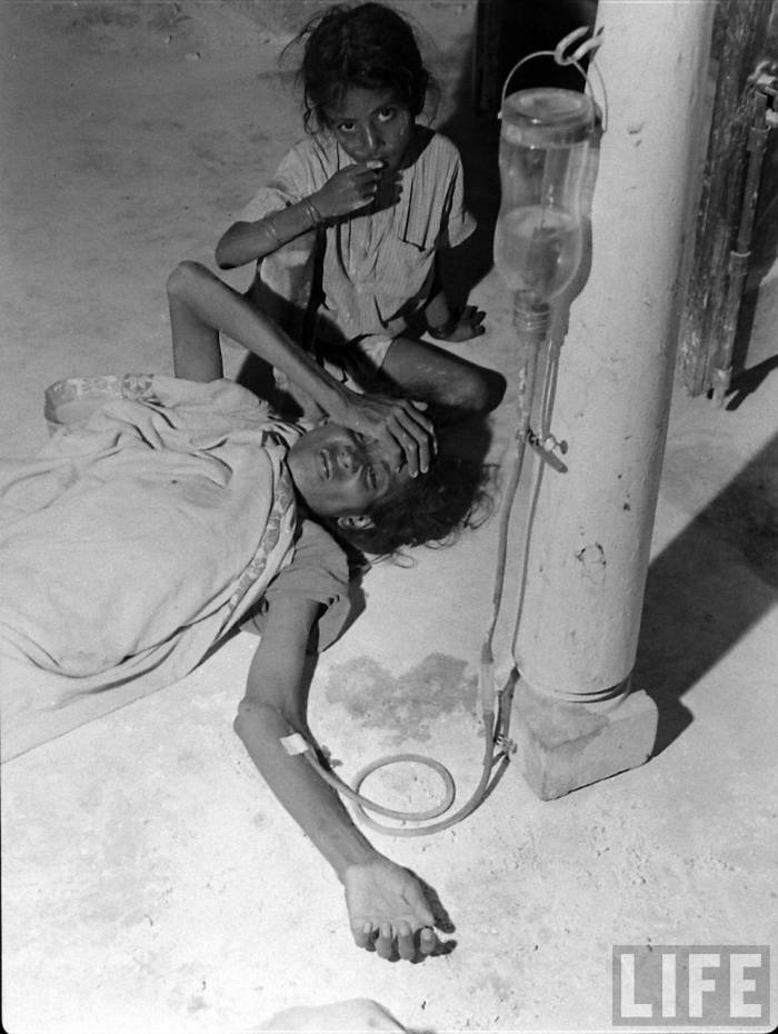 India partition 1947 sick woman