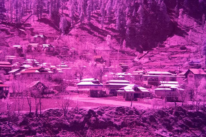 Unprocessed Infrared with white balance manually set to 2500k