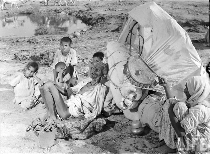 Partition of India 1947 migrants famine