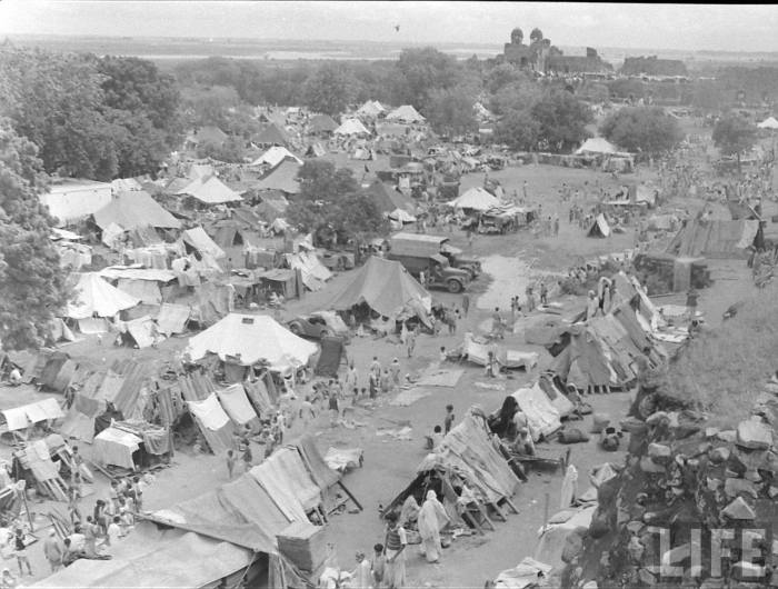 Indian partition refugee camp