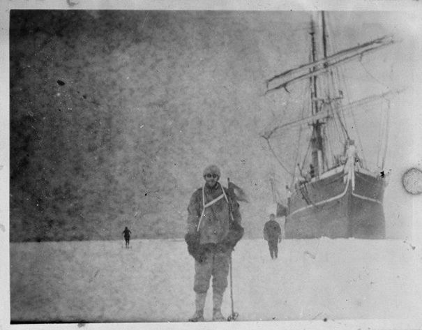 The Aurora ship during the Antarctic expedition