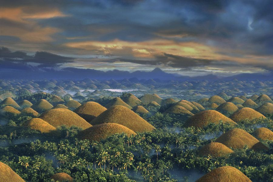 Sunrise over the Chocolate Hills,  Bohol Island, Philippines