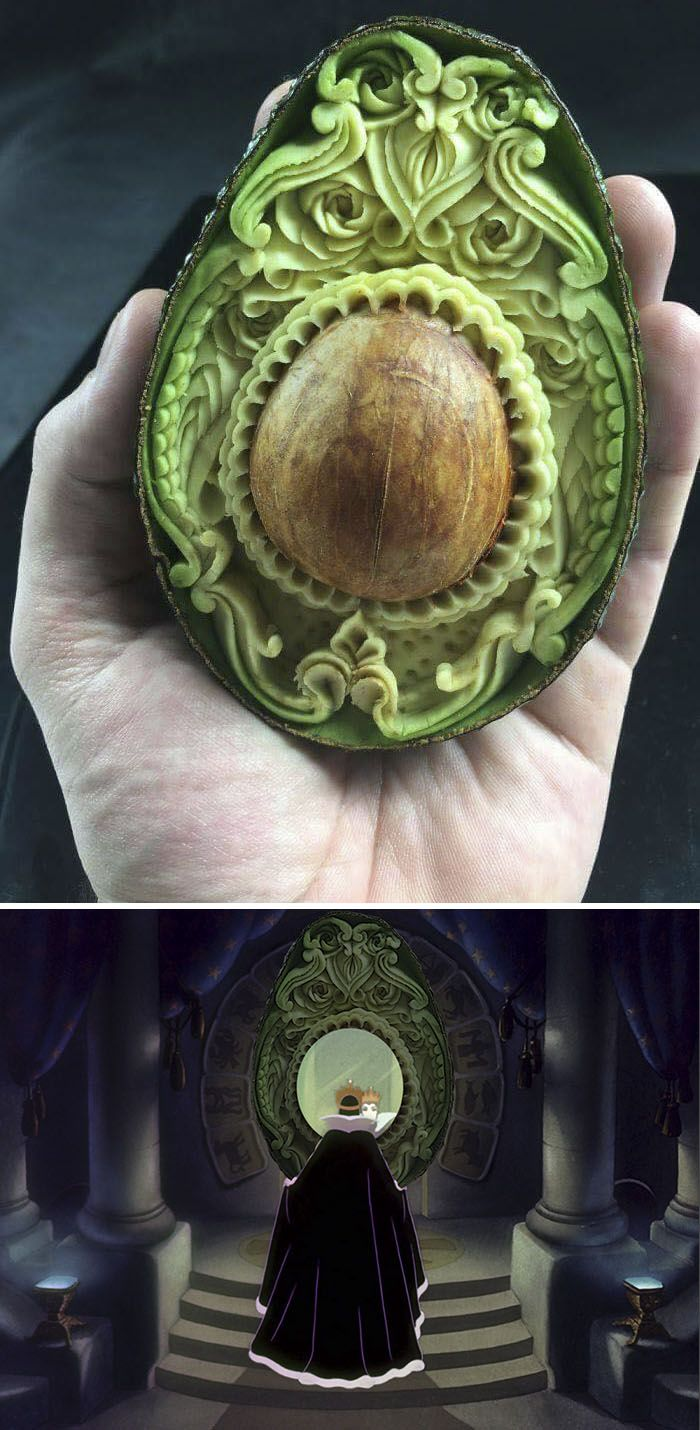 Photoshop fun avocado carving