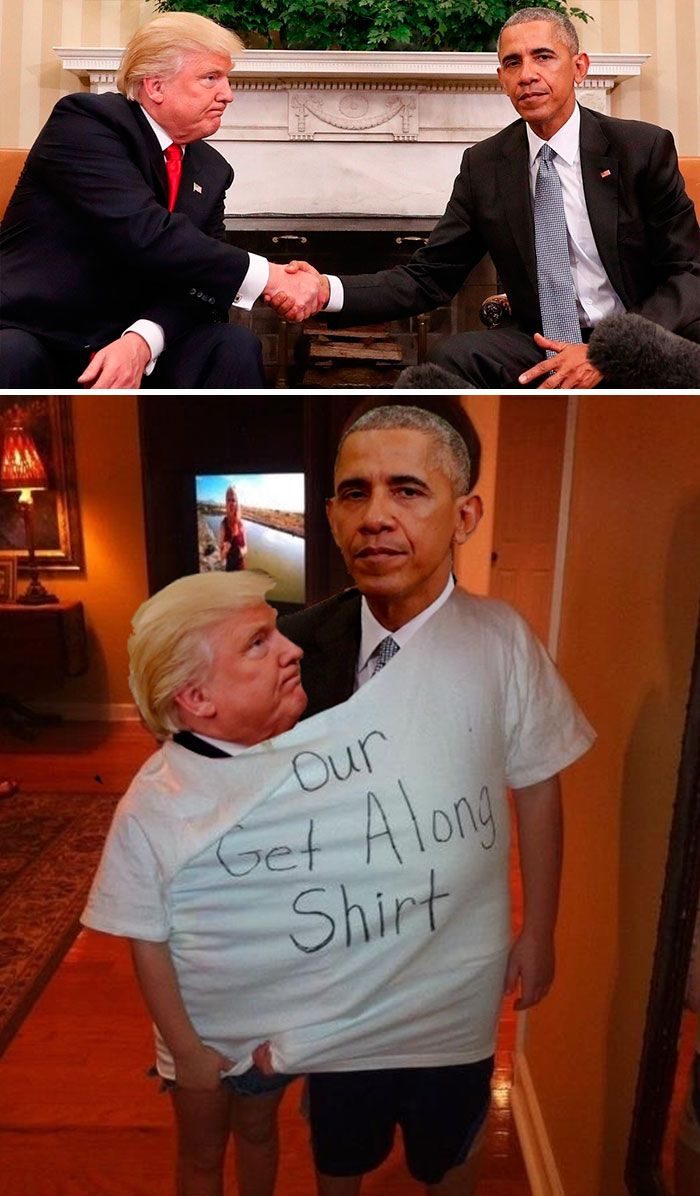 Photoshop fun Obama Trump handshake
