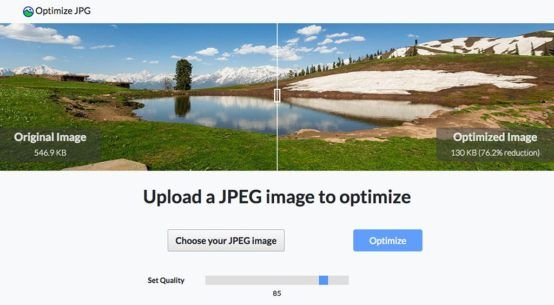 Optimize JPG tool www.optimize-jpg.com